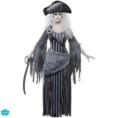 Disfraz de pirata fantasma para mujer