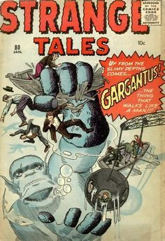 Strange Tales #80 Jack Kirby / Steve Ditko Cover. I love the barrier of the water depicted in this one.