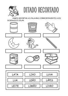 Turma da Monica para atividades: Ditado recortado - todas as letras