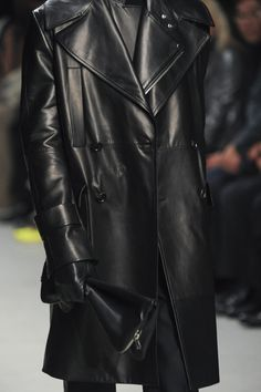 "monsieurcouture: "" Juun J F/W 2014 Menswear Paris Fashion Week � Leather Trench Coat, Leather Blazer, Leather Men, Leather Coats, Leather Jackets, Leather Fashion, Mens Fashion, Paris Fashion, High Fashion"
