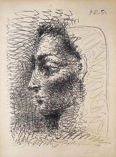 Pablo Picasso - Jacqueline (Drawing), 1956