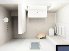 (De Eerste Kamer) Minimalistisch, licht en tijdloos is deze badkamer. De inloopdouche ademt rust uit maar is voorzien van een stijlvol bankje en luxe zijdouches. Meer foto's van deze badkamer kunt u vinden op www.eerstekamerbadkamers.nl