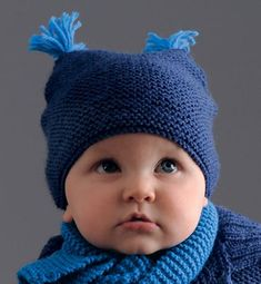 Baby Hats Knitting, Knitting For Kids, Baby Knitting Patterns, Knitted Hats, Crochet Patterns, Cute Crochet, Knit Crochet, Crochet Hats, Yarn Inspiration