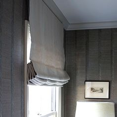 Style Guide: Beautiful Bedrooms Guest Room Redo Window Treatments | southernliving.com | Roman shades: Slubby Linen in Mushroom by Calico Corners