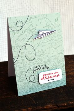Follow Your Dreams Card by Jess Witty for Papertrey Ink (June 2012)