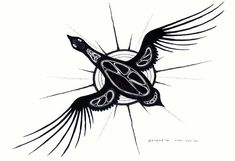 Snow Goose by Carl Ray - Woodlands Art Original Native American Tattoos, Native American Artists, Native Canadian, Canadian Art, Native Symbols, Native Art, Gans Tattoo, Totem Tattoo, Snow Goose