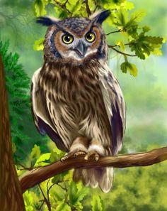 Иллюстратор Солодун Лена (69 работ) Owl Canvas, Canvas Art, Cute Owls Wallpaper, Owl Tattoo Drawings, Animal Painter, Owl Artwork, Owl Bags, Owl Pictures, Beautiful Owl