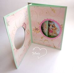 Silvia Scrap: Tutorial 37 en Latinas Arts & Crafts. Peek a Boo Card Digi: Beautiful Leia de Make it Crafty
