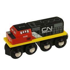 Bigjigs Wooden Railway CN Engine Train £6.99