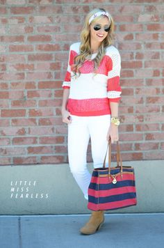 Little Miss Fearless: Nautical Whites + A Giveaway