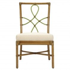 Elise Side Chair-Nutmeg with Kiwi Accents