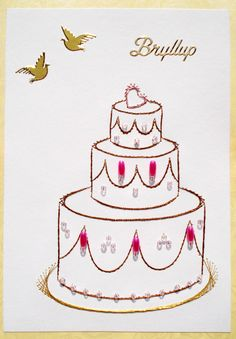 Paper Embroidery, Birthday Design, Ova, Wedding Cakes, Stitching, Desserts, Crafts, Paper, Embroidery Stitches