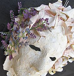 Paper Mache Mask with Flowers by margewickliffe on Etsy, $37.50