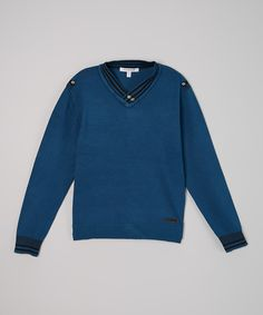 Love this Teal V-Neck Sweater - Toddler & Boys by Isaac Mizrahi on #zulily! #zulilyfinds