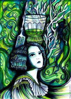 "Absinthe's Garden:  ""An #Absinthe Dream,"" by JudithXVIII, at deviantART."
