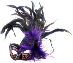 RedSkyTrader Womens Fancy Venetian Mask with Feathers One Size Fits Most Purple - http://www.halloween.quick-reviews.com/5688/redskytrader-womens-fancy-venetian-mask-with-feathers-one-size-fits-most-purple.html
