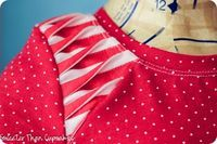Project Run & Play Sew Along – Pleated Shoulder Detail