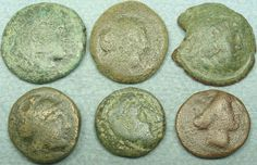 Item specifics     Composition:   Bronze   UPC:   Does Not Apply       LOT OF 6 GREEK BRONZE COINS  Price : $15.99  Ends on : Ended Order Now