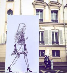 Influencée par les soldes, probablement !  #Paris #soldes #çagambade #dessin #illustration #drawing