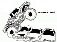 Monster truck color coloring pictures of monster trucks truck color pages free to jam print sheets Monster Truck Drawing, Monster Truck Coloring Pages, Monster Truck Birthday, Monster Trucks, Monster Jam, Free Printable Coloring Pages, Coloring Book Pages, Coloring Sheets, Free Printables