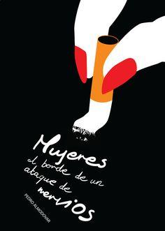Mujeres al borde de un ataque de nervios (1988) ~ Minimal Movie Poster by Kate Syska ~ Pedro Almodovar Series #amusementphile