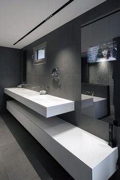 Plan vasque receveur et parois de douche en r sine v korr for Meuble 70x70