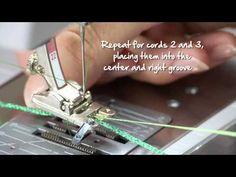 Tutorial: how to sew on cords and ribbons with the BERNINA braiding foot no. 21, 22 and 25 - YouTube 2014