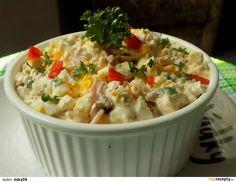 Hermelínový salát s Cottage, vejci a sušenými rajčaty recept - TopRecepty. Low Carb Keto, Cheeseburger Chowder, Mashed Potatoes, Salads, Food And Drink, Soup, Ethnic Recipes, Desserts, Cottage