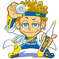 Valentino Rossi Cartoon Images, Cartoon Art, Bubble Guppies Party Supplies, Valentino Rossi Logo, Gp Moto, Nicky Hayden, Aftermarket Motorcycle Parts, Vr46, 1957 Chevrolet