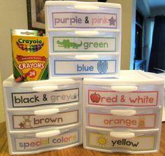 Crayon organizing