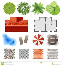Elements For Landscape Design Royalty Free Stock Photos - Image: 34251138