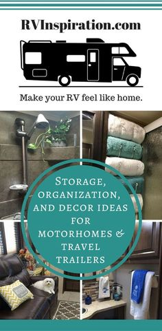 RVInspiration.com | Storage, Decor, and Organization Ideas for RVs, Travel Trailers, Campers, and Motorhomes