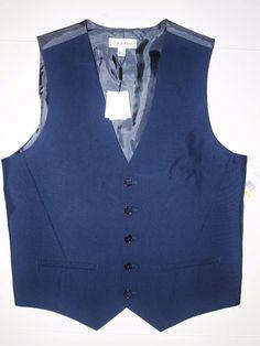 Calvin Klein high end suit men's vest new color blue MSRP $79.50 slim fit #CalvinKlein #vest