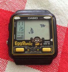 Casio Vintage Watch, Casio Watch, Retro Watches, Vintage Watches, Vintage Video Games, Home Computer, Game & Watch, Retro Toys, Video Game Art