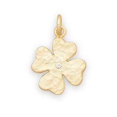 14 Karat Gold Plated 4 Leaf Clover Charm