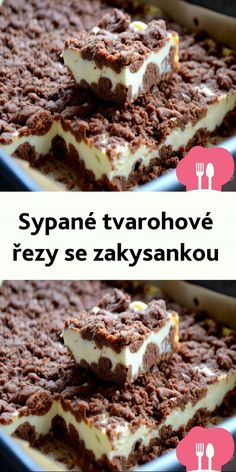 Sweet Desserts, Dessert Recipes, Brownie Cupcakes, Czech Recipes, Good Food, Yummy Food, Sweets Cake, International Recipes, Food Videos