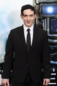Robin Lord Taylor attends the 'Chappie' New York Premiere at AMC Lincoln Square Theater