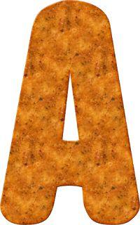 Alfabeto Decorativo: Alfabeto - Doritos Nacho Cheese 2 - PNG - Letras -...