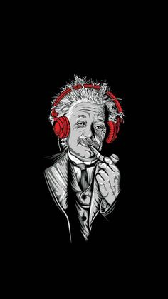 Albert Einstein Digital Art Mobile Wallpaper – iWall a Wallpaper Bank Smile Wallpaper, Black Phone Wallpaper, Wallpaper Space, Dark Wallpaper, Galaxy Wallpaper, Wallpaper Backgrounds, Red And Black Wallpaper, Funny Iphone Wallpaper, Music Wallpaper