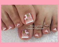 Pretty Toe Nails, Cute Toe Nails, Cute Toes, Pretty Nail Art, Pretty Toes, Toe Nail Designs, Manicure And Pedicure, Beauty, Diana