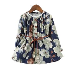Victory! Check out my new Sweet Floral Printed Long Sleeve Dress for Girls, snagged at a crazy discounted price with the PatPat app.