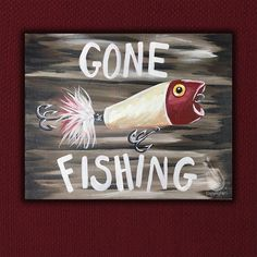 "Just for Dad on this Father's Day! Dad's like to paint too! Sign him up for the fun next Sun, June 18, cause we have ""Gone Fishing!"" Join us at Painting with a Twist – Indy! ©Painting with a Twist."
