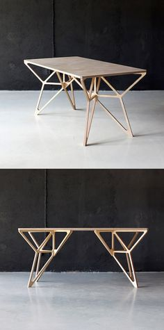 Plywood geo table / DontDIY More