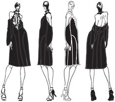 Fashion Sketchbook - fashion design drawings; dress sketches; fashion portfolio // Mariah Harrison