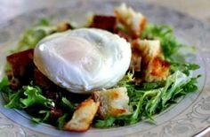 Dinner for the past 2 nights...Poached Egg and Bacon Salad – Salad Lyonnaise