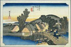 Hiroshige - The Fifty-three Stations of the Tōkaidō 4th station : Hodogaya