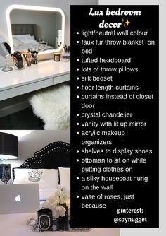 @Soynugget - lux room decor ideas list