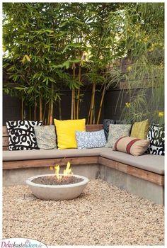 Eine einladende Feuerstelle - Garten gestalten Ideen