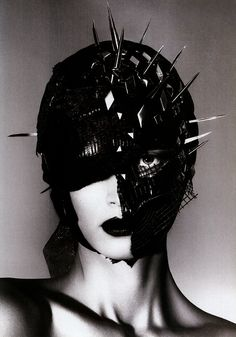 spiked mask. Gratefully repinned by RokStarroad.com