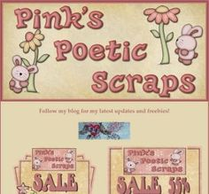 Ad:New Scripts Snake Eyes & Seahorse,3 New BT Freebies, & More by Pink's Poetic Scraps! http://mad.ly/4c9473